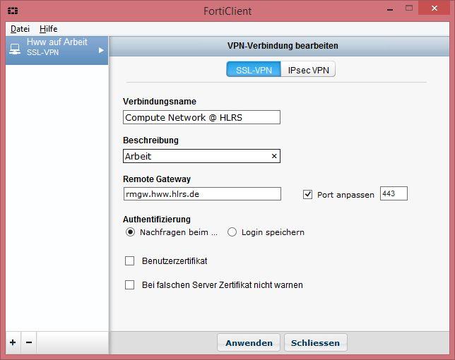 VPN - HLRS Platforms